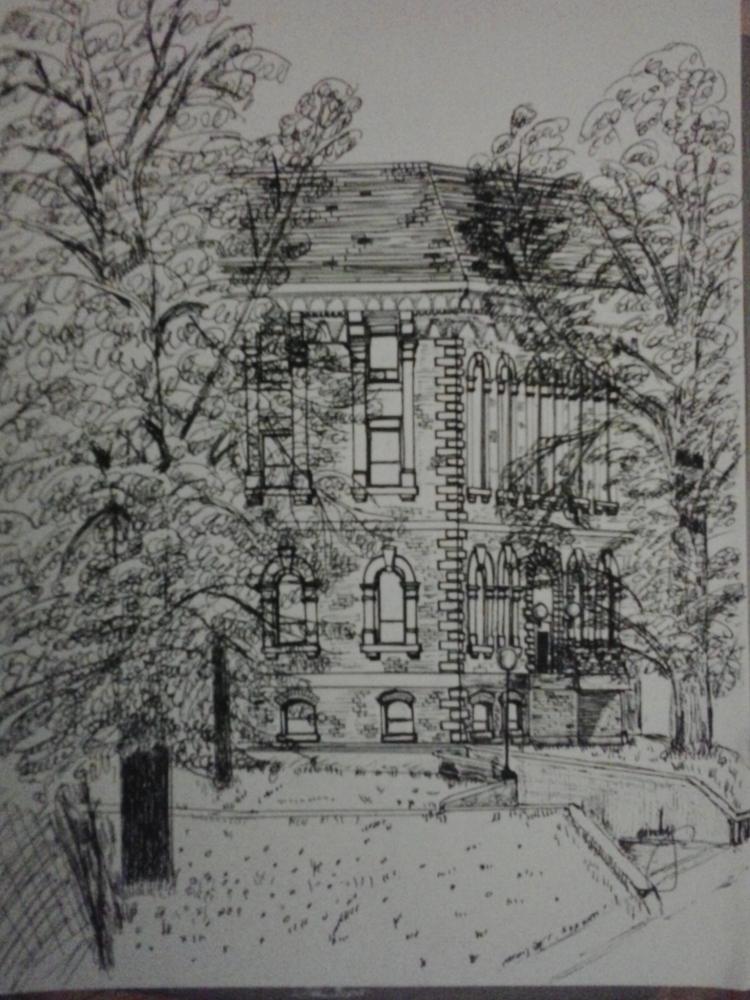 Hon. George E. Coles Bldg. (pen & pencil sketch) (1/2)