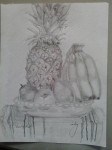 Fresh Fruit, pencil on paper, 9