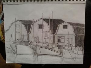 Safe Harbour, pen on paper, 9