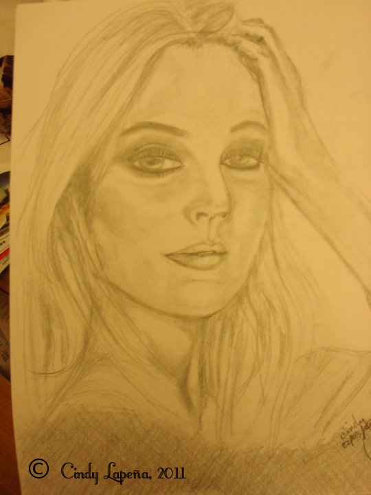 Drew Barrymore pencil sketch