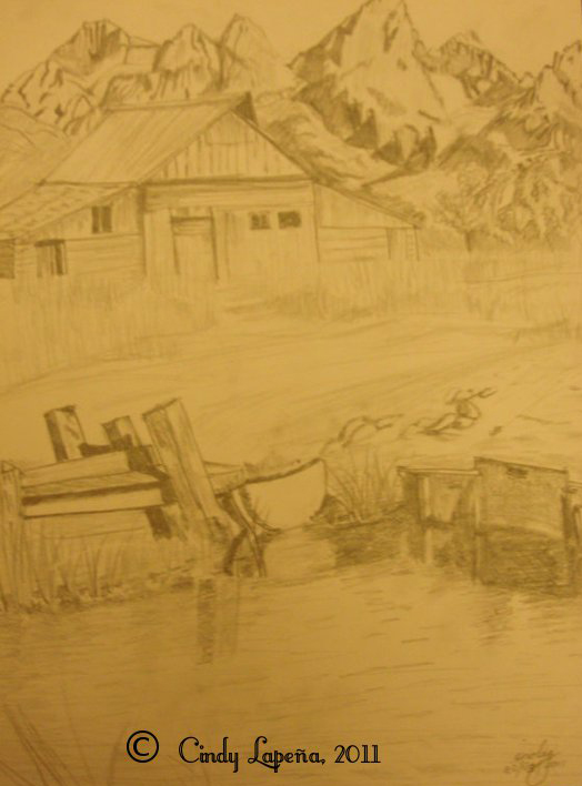 Landscape in pencil