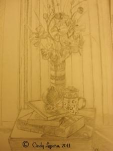 Still Life, pencil on paper, 9