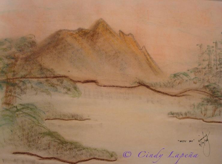 "Chalk Pastel on Paper, 18""x12"""