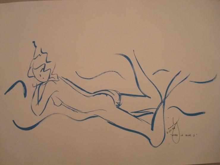 Nude in Blue II